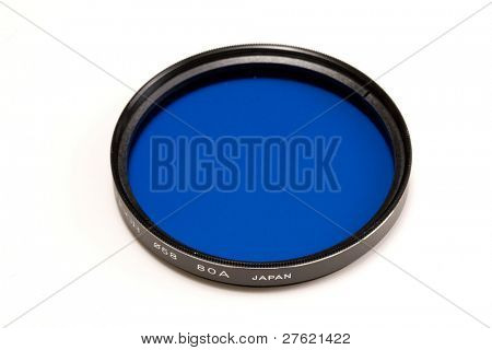 Colour photo filter isolated on white