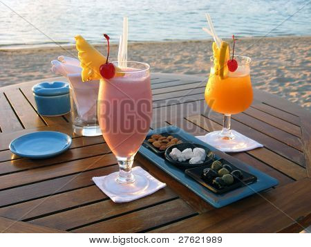 Romantic Cocktail for lovers by the beach in Mauritius
