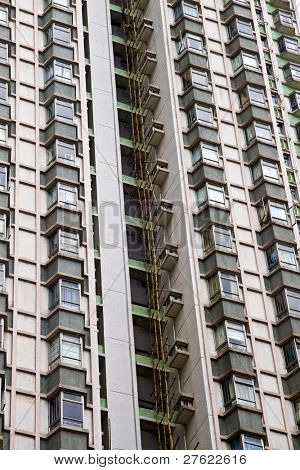 Tall building of apartments in Hong Kong