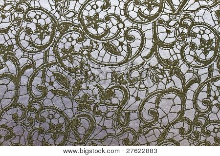 Texture of classic floral fabric background