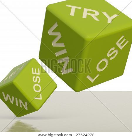 Try Win Lose Dice Showing Gambling And Chance