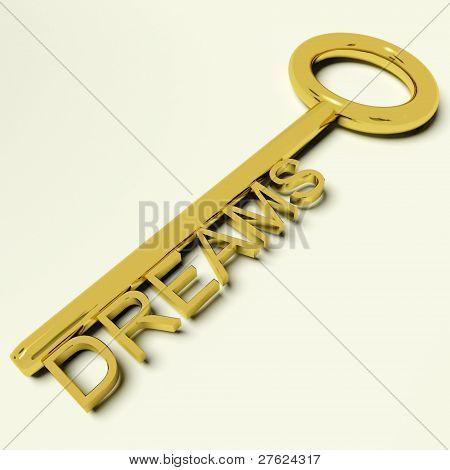 Clave que representan la esperanza y la ambición de sueños