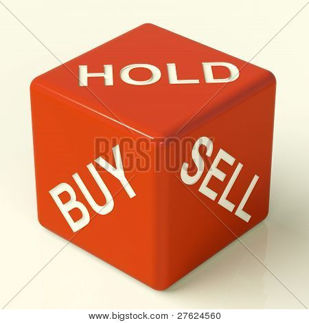 Buy Hold And Sell Dice Representing Stocks Strategy