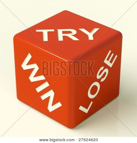 Try Win Lose Dice Showing Gambling And Luck