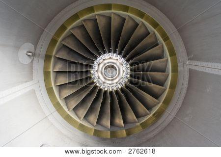 Aircraft Jet Engine Detail