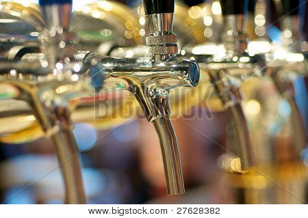 Golden Beer Taps