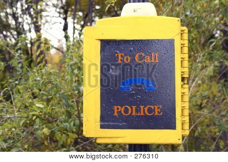 Police Call Box In Central Park