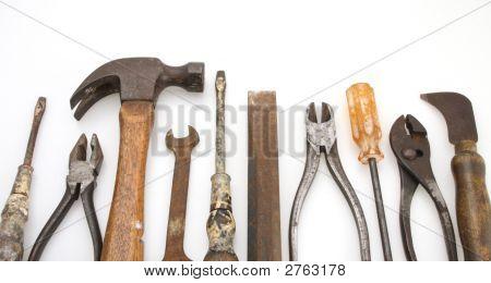 Isolierte alte Werkzeug Set