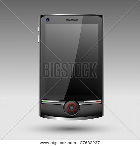Smartphone With Big Touch Screen.