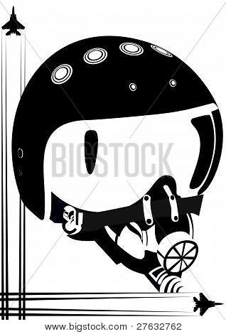 Helm of a fighter pilot