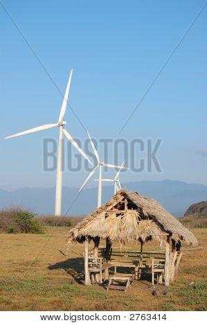 Windfarm And A Hut