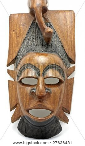 Mask from Gambia Africa from wood
