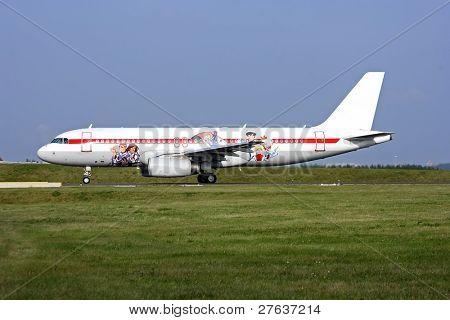 Flugzeuge ready to take off Flughafen Schiphol in den Niederlanden