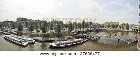 View on Amsterdam innercity in the Netherlands