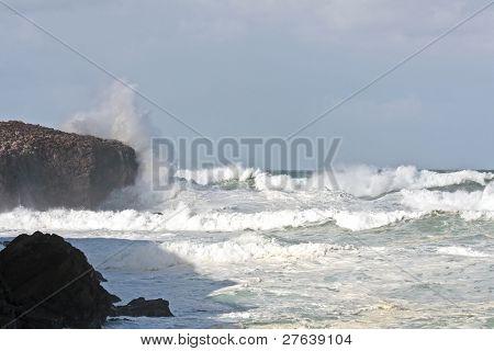 Stormy westcoast from Portugal