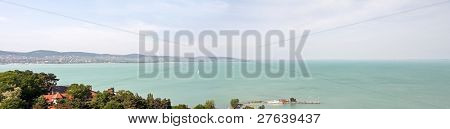 Panorama from the Balaton lake in Hungary