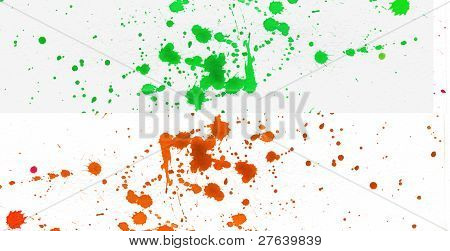 Orange And Green Splatter