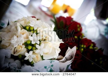 Pretty White Wedding Bouquet Of Flowers