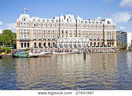 Medieval building Amstel hotel in the Netherlands