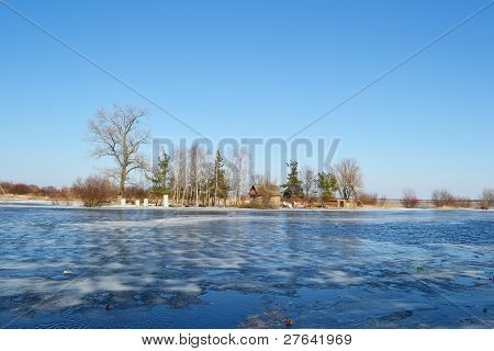 Early spring on the river Pripyat