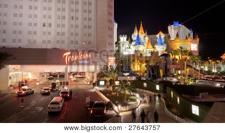 Las Vegas, Nv -  April 10: Tropicana And Excalibur Hotel And Casino On April 10, 2011 In Las Vegas,