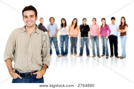 Lässig-Menschen-Gruppe