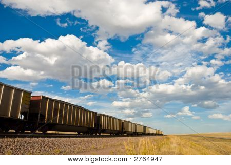Train Disappears Into The Distance