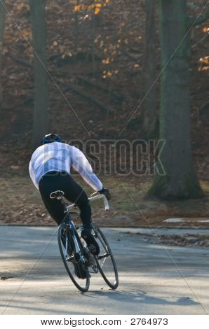 Morning Cyclist Racing