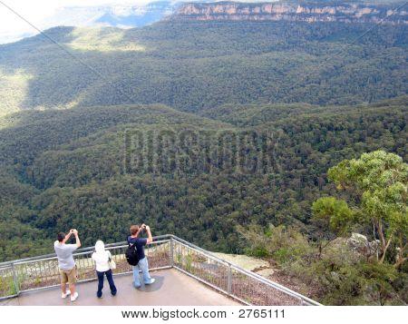 Touristen in Blue Mountains, Australien