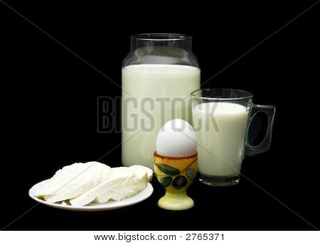Egg,  Cheese  And Milk