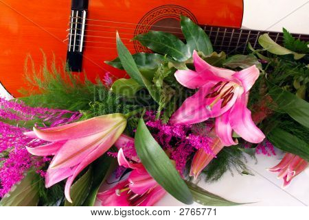 Guitar And Lily Composition