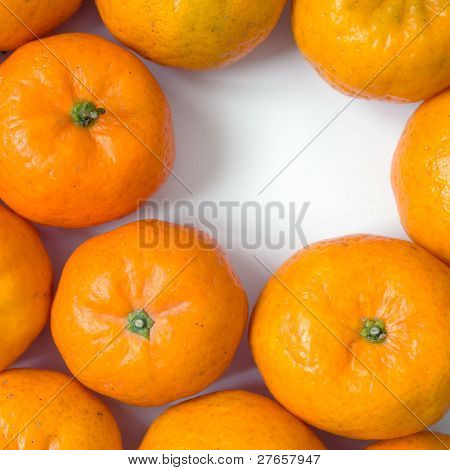 Orange On White Table