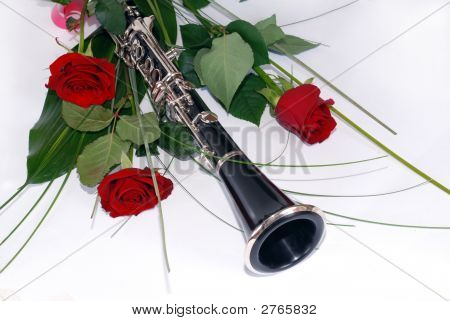 Three Red Rose Clarinet Composition