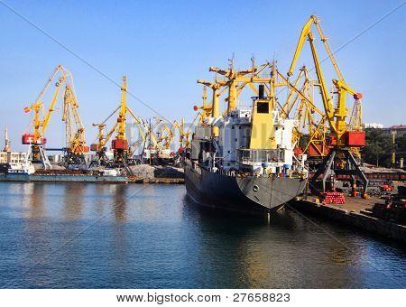 seaport in Odessa (duotone)