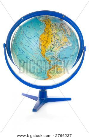 Globe Isolated Over White