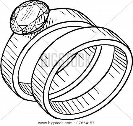 Wedding ring drawing