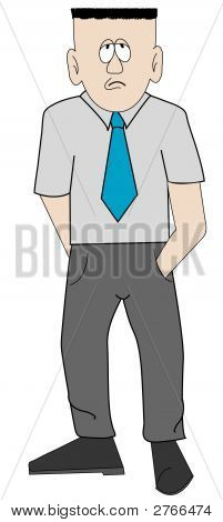 Man Worker In Tie