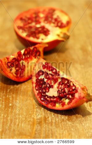 Broken Ripe Pomegranate Fruit