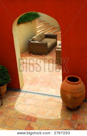 Courtyard Of A Villa