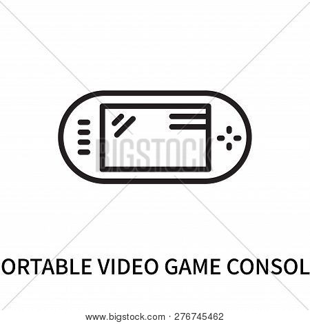 poster of Portable Video Game Console Icon Isolated On White Background. Portable Video Game Console Icon Simp