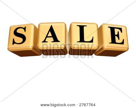 Golden Sale Isolated