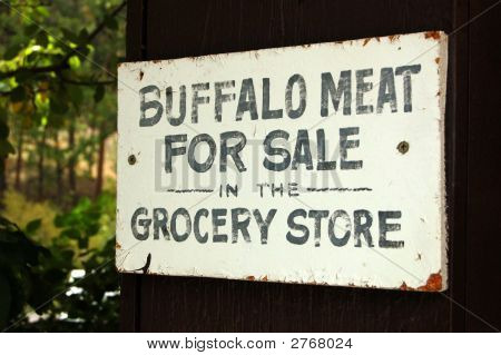 Sign - Buffalo Meat For Sale
