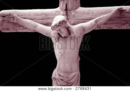Jesus On The Cross, Duo-Toned Photo