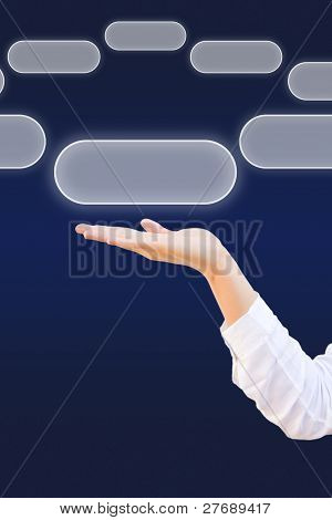 Hand Select Blank Touchscreen Button