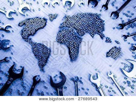 World made from spanners