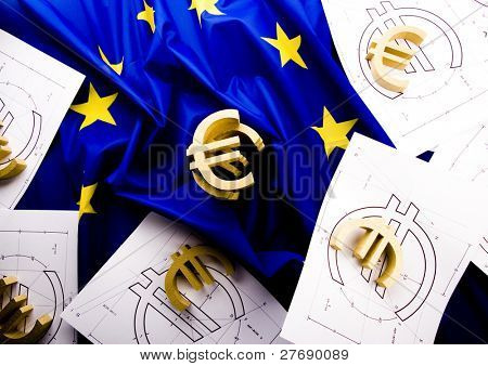 Euro on the flag