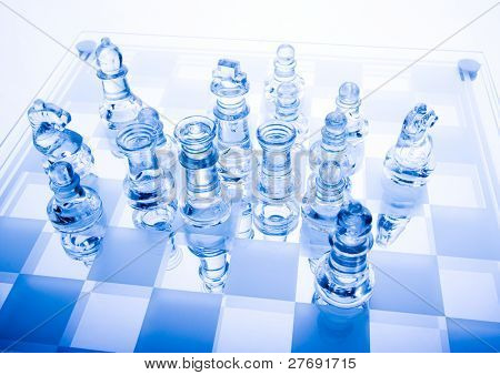 Glass pawns