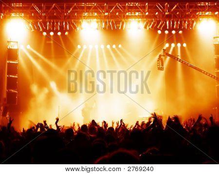 Multidão de concerto