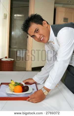 Room Service Staff Or Butler Or Waiter