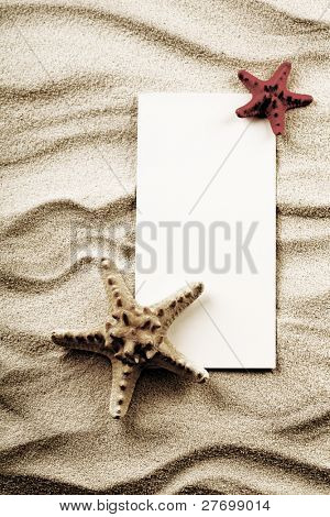Paper background and seashell